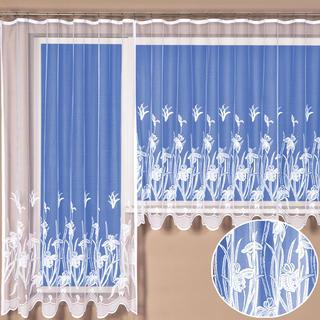 Hotová žakárová záclona Kristýna - balkonový komplet