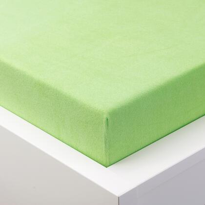 Napínací prostěradlo froté EXCLUSIVE v barvě zeleného jablka, jednolůžko