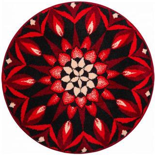Koberec s protiskluzovou úpravou Mandala POZNÁNÍ - červený