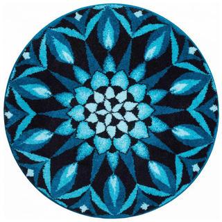 Koberec s protiskluzovou úpravou Mandala POZNÁNÍ - modrý