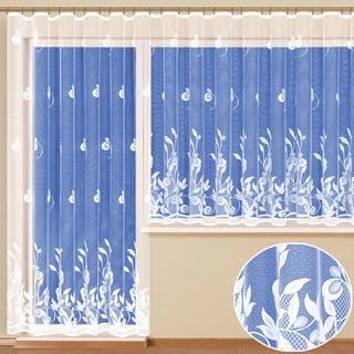 Hotová žakárová záclona Nataša - balkonový komplet