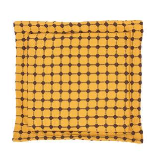 Sedák Indie s ozdobným lemem žlutohnědý 38 x 38 cm