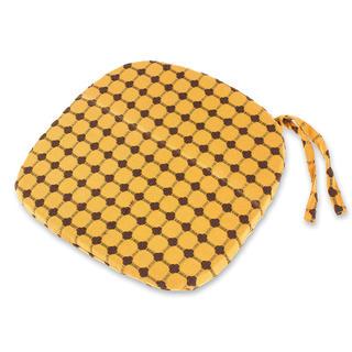 Oblý sedák Indie žlutohnědý 37 x 37 cm