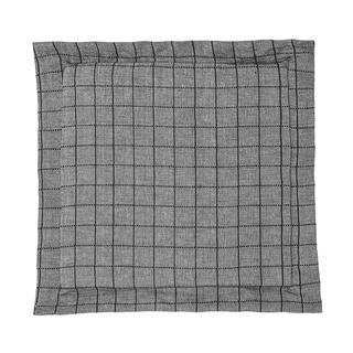 Sedák Indie s ozdobným lemem černošedý s mřížkou 38 x 38 cm