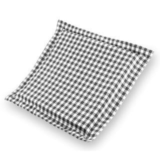 Sedák Indie s ozdobným černobílý s kostičkami 38 x 38 cm