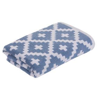 Froté ručník GRAPHICS Rauten modrý 50 x 100 cm