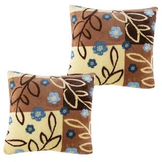 Sada povlaků na polštářky SARAH hnědé, 2 ks 40 x 40 cm
