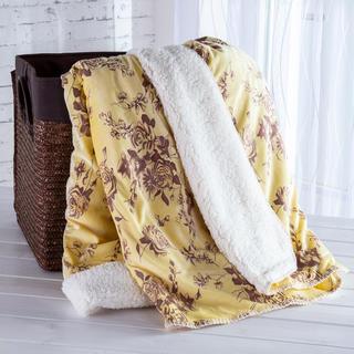 Beránková deka s embosovaným vzorem krémová 140 x 200 cm