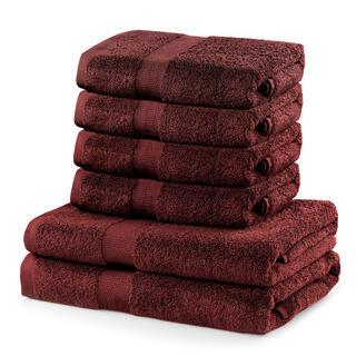 Sada froté ručníků a osušek MARINA hnědá 6 ks