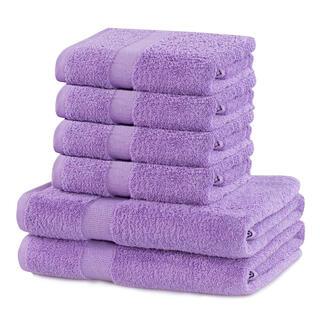 Sada froté ručníků a osušek MARINA lila 6 ks