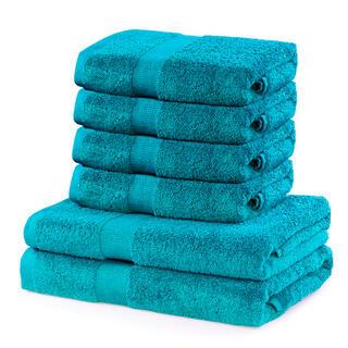 Sada froté ručníků a osušek MARINA tyrkysová 6 ks