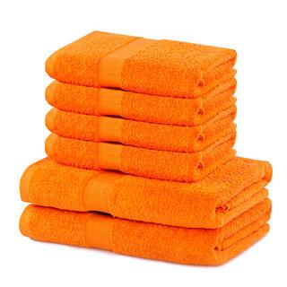 Sada froté ručníků a osušek MARINA oranžová 6 ks