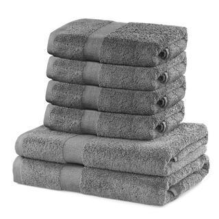 Sada froté ručníků a osušek MARINA šedá 6 ks