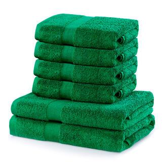 Sada froté ručníků a osušek MARINA zelená 6 ks