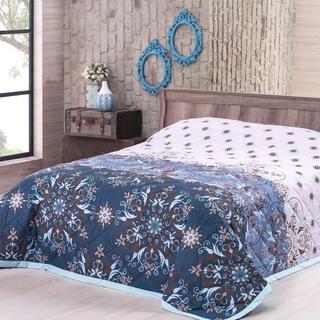 Přehoz na postel Alberica, modrý