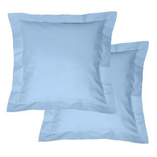 Bavlněné povlaky na polštářky s lemem, světle modré 2 ks