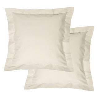 Bavlněné povlaky na polštářky s lemem, krémové 2 ks