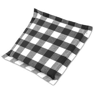 Sedák Indie s ozdobným lemem kostka černobílý 38 x 38 cm