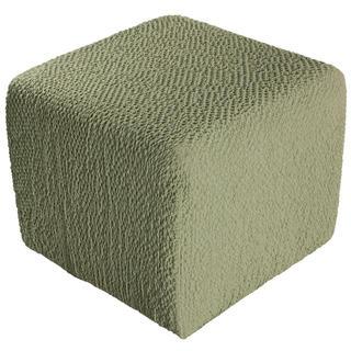 Bielastické potahy BUKLÉ hrášková, taburet (40 x 40 x 40 cm)