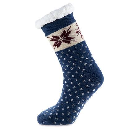 Hřejivé ponožky na spaní modré