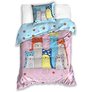 Dětské bavlněné ložní povlečení Kočky Sweet dreams