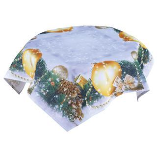 Středový ubrus s vánočním potiskem 85 x 85 cm