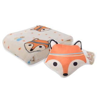 Sada deky a polštářku CARTOON PETS Lištička 2 ks