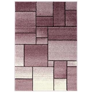Kusový koberec FUJI Kostka fialová