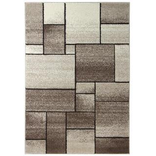 Kusový koberec FUJI Kostka hnědá