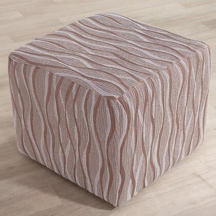 Monoelastické potahy CASIOPEA béžové, taburet (š. 40 x 60 cm)