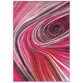 Kusový koberec CITY Růžová spirála