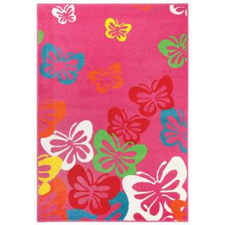 Kusový koberec PLAY Růžový motýl  120 x 170 cm