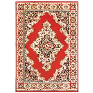 Kusový koberec KEMAL červený střed