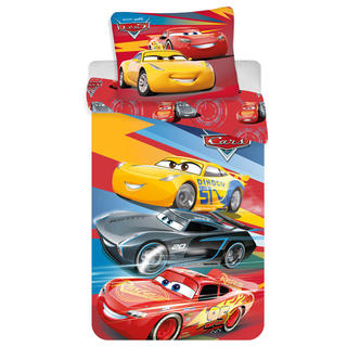 Bavlněné ložní povlečení CARS Red