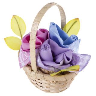 Dámské bavlněné kapesníky GRACE Růže sada 3ks v košíku