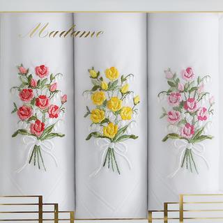 Dámské bavlněné kapesníky GRACE Kytice růží sada 3ks