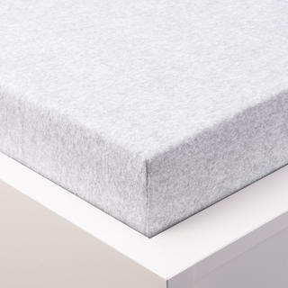 Napínací prostěradlo froté MELÍR pastelově šedobílá