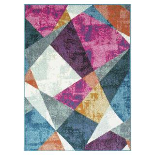 Kusový koberec CITY Barevné úhelníky