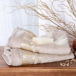 Sada bambusových ručníků se zlatou bordurou OŘÍŠKOVÉ 2 ks