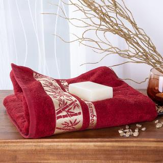 Bambusová osuška se zlatou bordurou BORDÓ 70 x 140 cm
