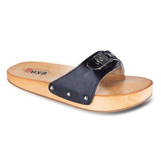 Anticelulitické dřevěné pantofle černé