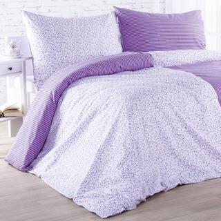 Bavlněné ložní povlečení ŽANETA fialové