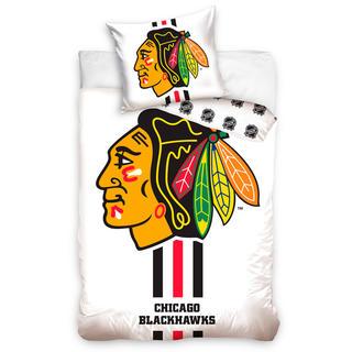 Bavlněné ložní povlečení NHL CHICAGO BLACKHAWKS White