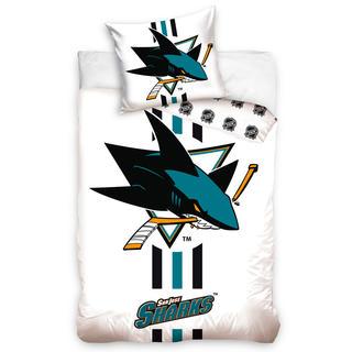 Bavlněné ložní povlečení NHL SAN JOSE SHARKS White