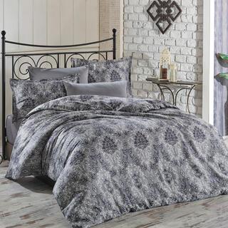 Saténové povlečení SIMILAR šedé, francouzská postel