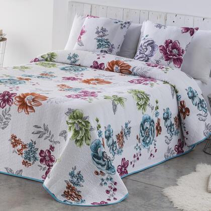 Přehoz na postel CRYSTAL modrý