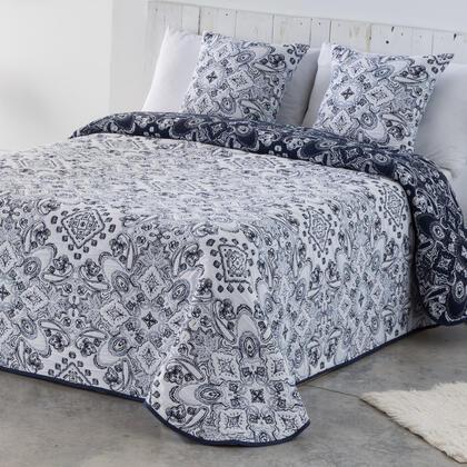 Přehoz přes postel INES modro-bílý