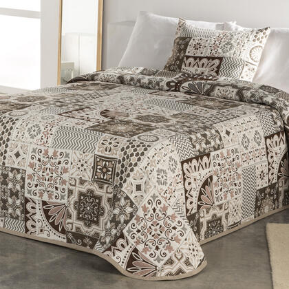 Přehoz na postel MIA béžový, dvojlůžko
