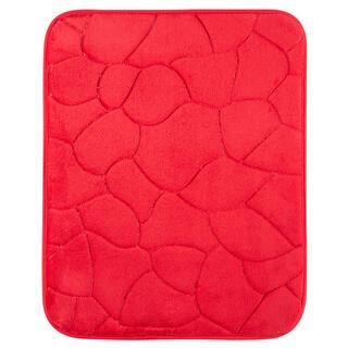 Koupelnová předložka KAMENY červená, 50 x 80 cm