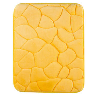 Koupelnová předložka KAMENY žlutá, 50 x 80 cm